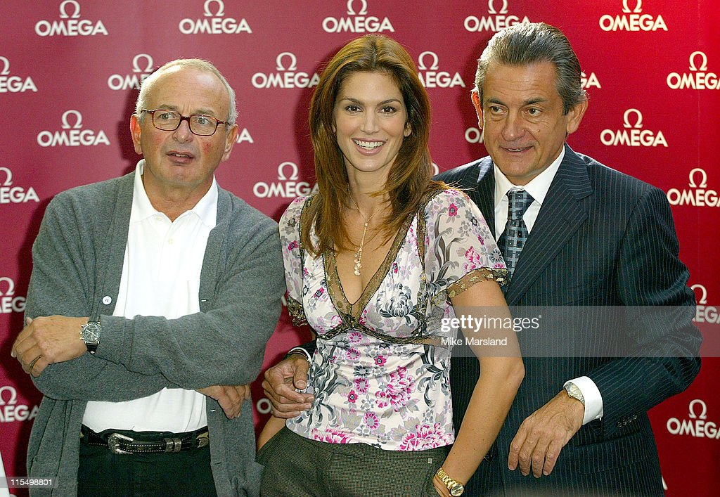 Cindy Crawford with Fashion Photographer Arthur Elgort and Omega President Stephen Urquhart