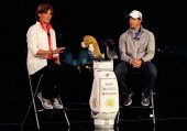 Cindy Davis Nike Golf President unveils Rory McIlroy as a new Brand Ambassador for Nike at Fairmont Bab Al Bahr Hotel on January 14 2013 in Abu Dhabi...