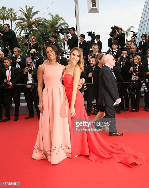 Cindy Fabre and Valerie Begue attend the 'Macbeth' premiere during the 68th annual Cannes Film Festival on May 23 2015 in Cannes France