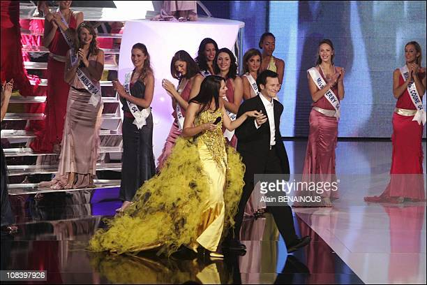 Cindy Fabre Miss France 2005 in Tours France on December 04 2004
