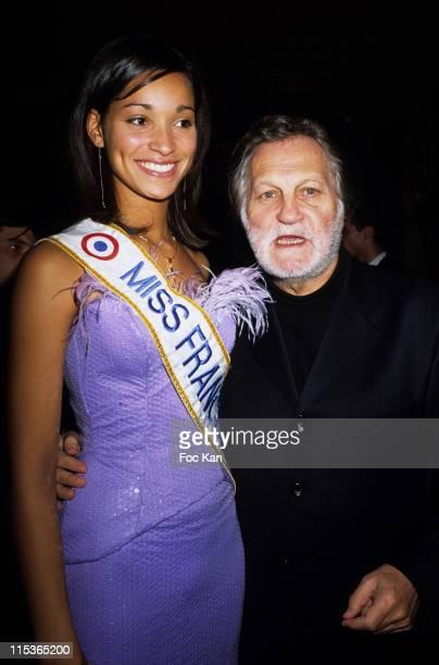 Cindy Fabre Miss France 2005 Jean Jacques Debout during 'La Reunion' Island Tourism Promotion Party at Club De L'Etoile in Paris France