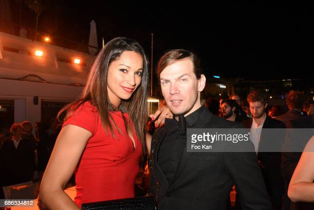 Cindy FabreÊand Christophe Guillarme attend the Orange Justice Concert Party Hosted by Orange at Plage du Majestic during the 70th annual Cannes Film...