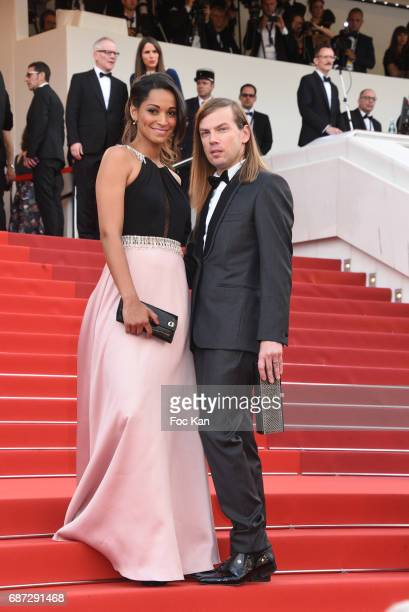 Cindy FabreChristophe Guillarme attend 'The Killing Of A Sacred Deer' premiere during the 70th annual Cannes Film Festival at Palais des Festivals on...