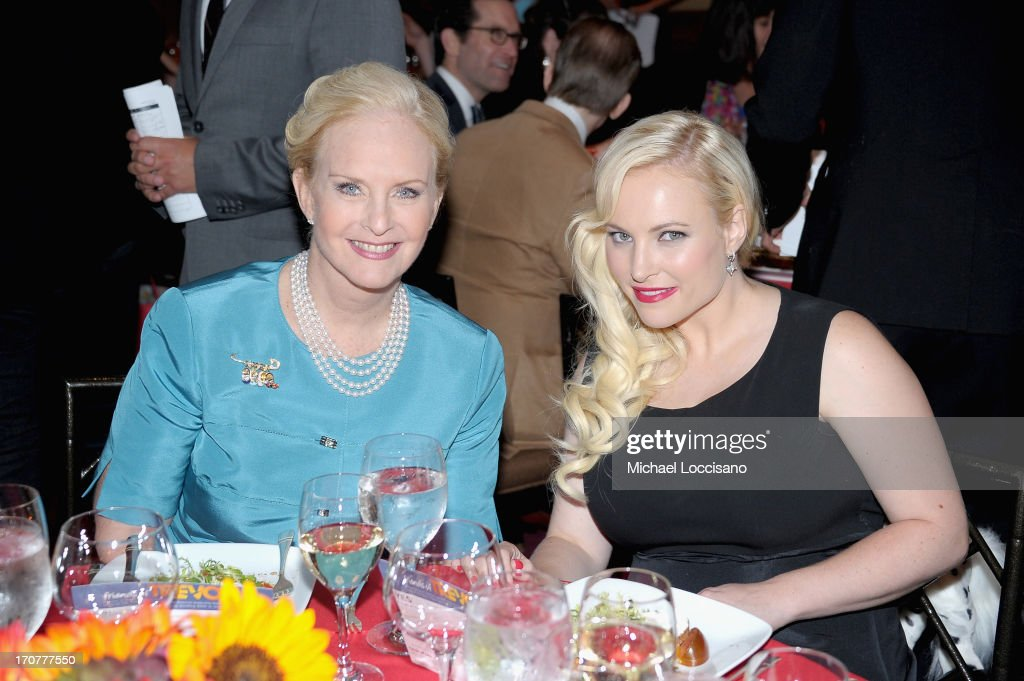 Cindy Hensley McCain and <a gi-track='captionPersonalityLinkClicked' href=/galleries/search?phrase=Meghan+McCain&family=editorial&specificpeople=1045063 ng-click='$event.stopPropagation()'>Meghan McCain</a> attend the Trevor Project's 2013 'TrevorLIVE' Event Honoring Cindy Hensley McCain at Chelsea Piers on June 17, 2013 in New York City.