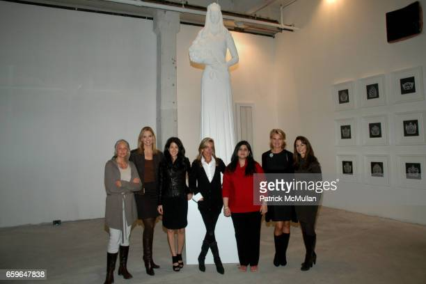 Cindy Joseph Laurie Dhue Amanda Ross Rachel Hovnanian Sharmeen Gangat Dr Olivia Flatto and Donna Fish attend POWER AND BURDEN OF BEAUTY By RACHEL...