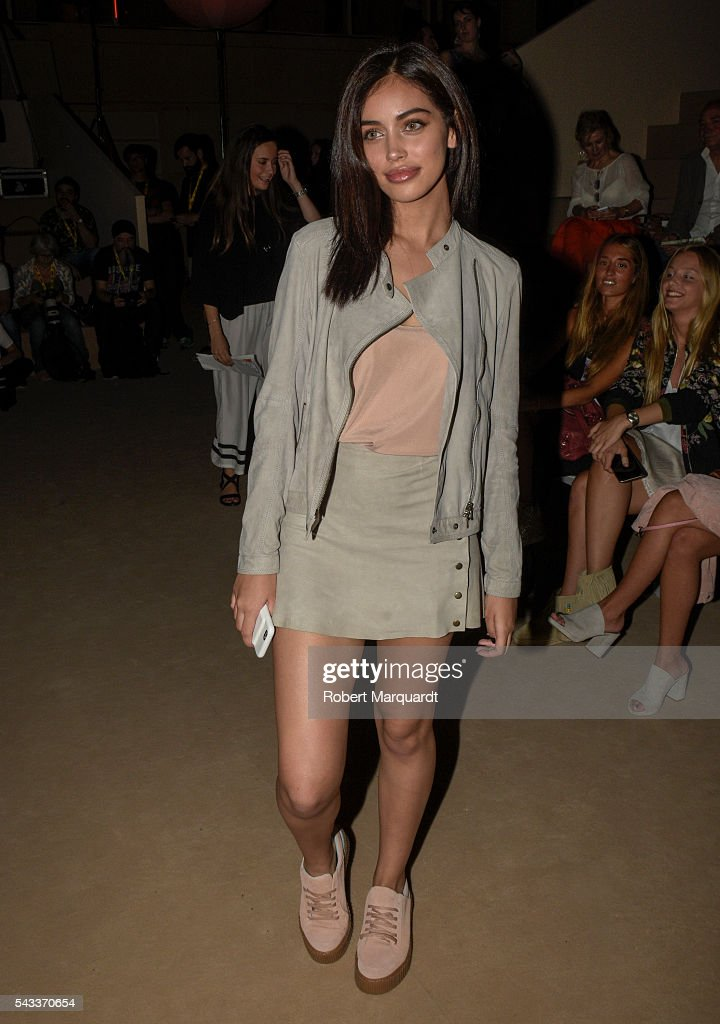 Cindy Kimberly attends the front row of TCN show during the Barcelona 080 Fashion Week Spring/Summer 2017 at the INFEC on June 27, 2016 in Barcelona, Spain.