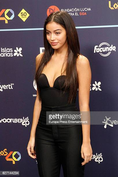 Cindy Kimberly attends the gala of Los 40 Music Awards 2016 on December 1 2016 in Barcelona Spain