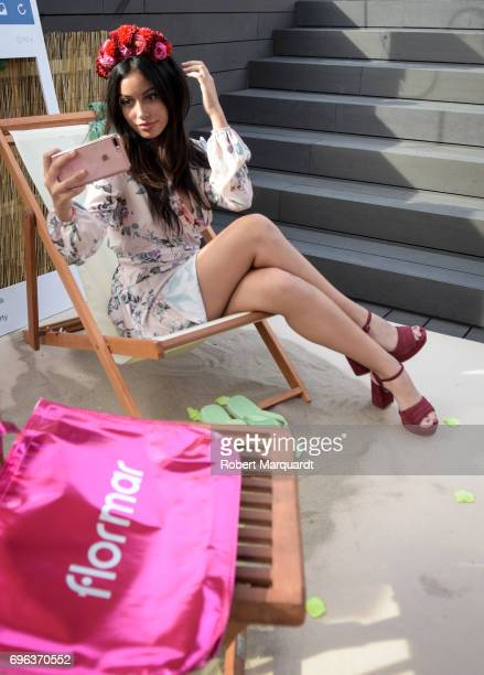 Cindy Kimberly poses during a presentation at the 'Tropical Splash Party' at the Hotel Gallery Terraza on June 15 2017 in Barcelona Spain