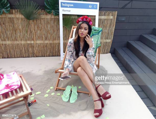 Cindy Kimberly presents Flormar summer new collection during the Tropical Splash Party at Gallery hotel on June 15 2017 in Barcelona Spain