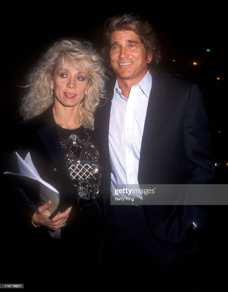 Cindy Landon and <a gi-track='captionPersonalityLinkClicked' href=/galleries/search?phrase=Michael+Landon&family=editorial&specificpeople=228407 ng-click='$event.stopPropagation()'>Michael Landon</a> during 'Beaches' Premiere at Academy Theater in Los Angeles, California, United States.