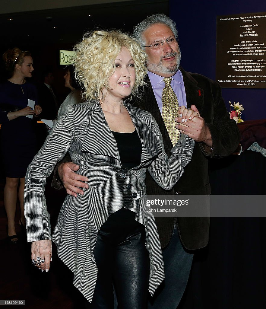 Cindy Lauper and Harvey Fierstein attend The 2013 Broadway.com Audience Choice Awards at Jazz at Lincoln Center on May 5, 2013 in New York City.