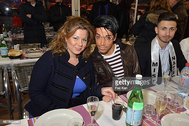 Cindy Lopes and Bruno Moneroe attend 'La Foire du Trone 2015' Launch Party At Pelouse De Reuilly in Benefit of Le Secours Populaire Association on...