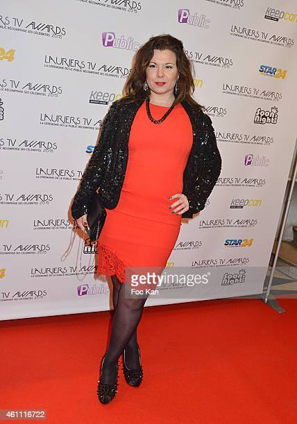 Cindy Lopes attends The 'Lauriers TV Awards 2015 Ceremony' Red Carpet Arrivals At La Cigale In Paris on January 06 2015 in Paris France