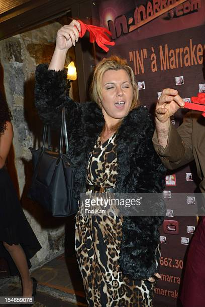 Cindy Lopes attends the 'Les 10 Ans de Marc Mitonne' Party Hosted by '2 Mains Rouges' at the Marc Mitonne Restaurant on October 23 2012 in Paris...