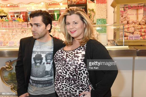 Cindy Lopesfrom Secret Story3 and compagnion Maxime attend Foire du Trone Auction Launch Party to benefit 'Les Petits Princes' Children Care...