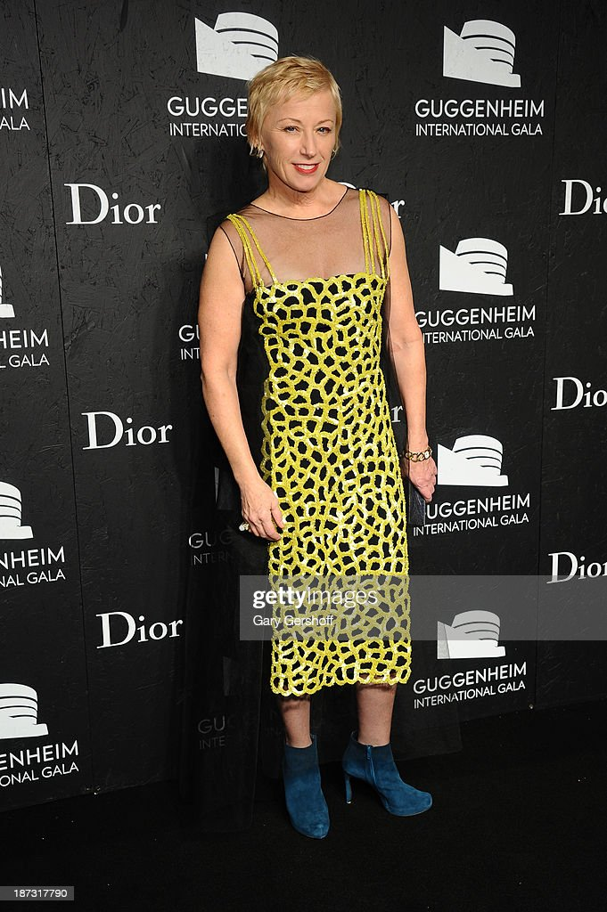 Cindy Sherman attends the Guggenheim International Gala, made possible by Dior, at the Guggenheim Museum on November 7, 2013 in New York City.
