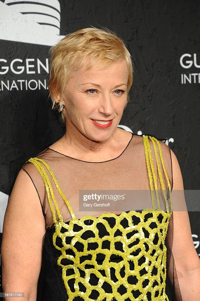 <a gi-track='captionPersonalityLinkClicked' href=/galleries/search?phrase=Cindy+Sherman&family=editorial&specificpeople=741462 ng-click='$event.stopPropagation()'>Cindy Sherman</a> attends the Guggenheim International Gala, made possible by Dior, at the Guggenheim Museum on November 7, 2013 in New York City.