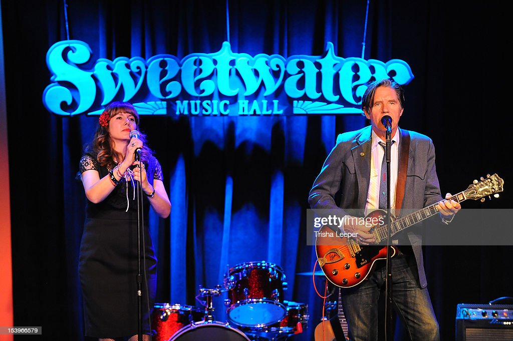 Cindy Wasserman and John Doe perfoms at the Mill Valley ASCAP Music cafe at Sweetwater Music Hall on October 11, 2012 in Mill Valley, California.