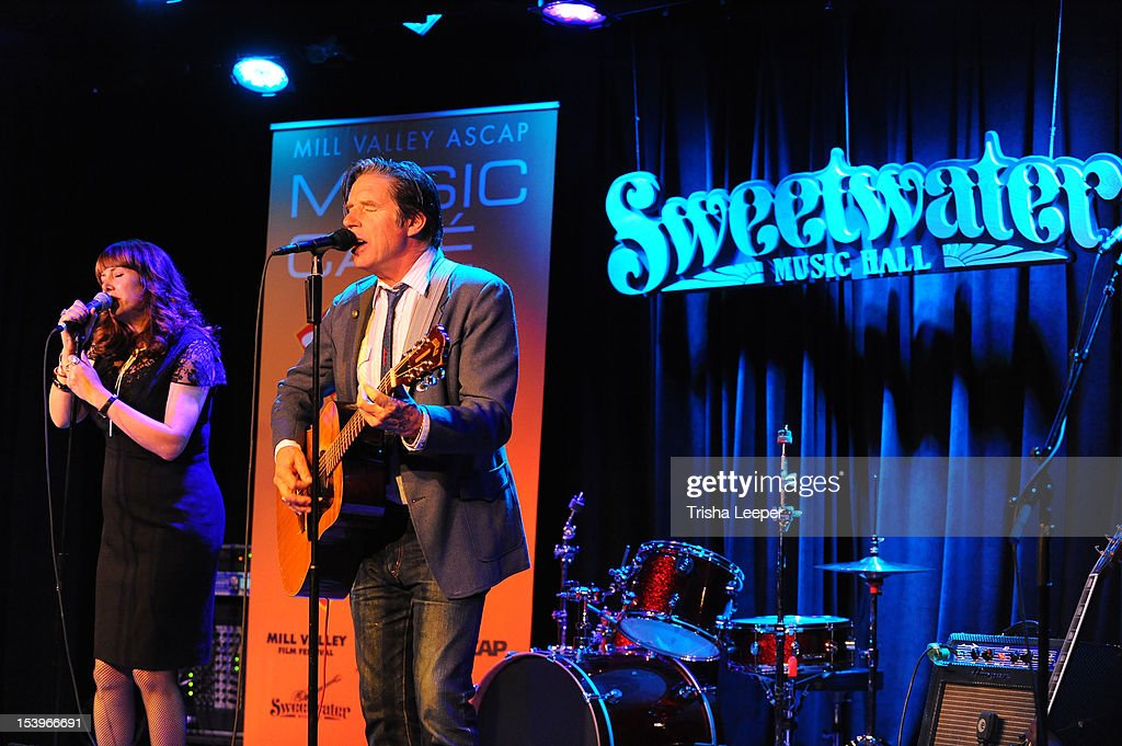 Cindy Wasserman and John Doe (L-R) performs at the Mill Valley ASCAP Music cafe at Sweetwater Music Hall on October 11, 2012 in Mill Valley, California.
