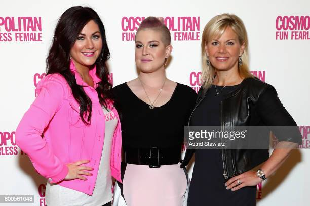 Cindy Whitehead Gretchen Carlson and Kelly Osbourne attend the Cosmopolitan Let's Talk About It Event on June 24 2017 in New York City