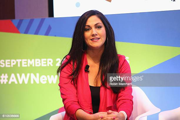 Cindy Whitehead speaks onstage at Breaking the Mold at Thomson Reuters during 2016 Advertising Week New York on September 26 2016 in New York City