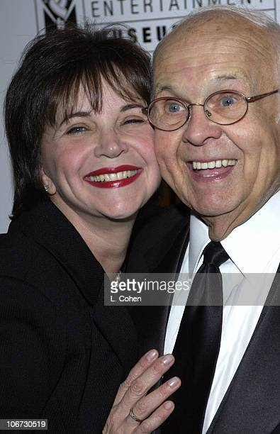 Cindy Williams and Johnny Grant during Salute to Johnny Grant Happy 80th Birthday Staged by the Hollywood Entertainment Museum Cocktail Party at...