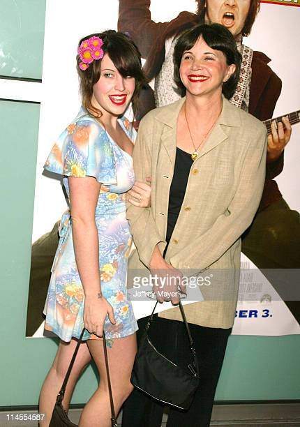 Cindy Williams daughter Emily Hudson during 'School of Rock' Premiere Arrivals at Cinerama Dome in Hollywood California United States
