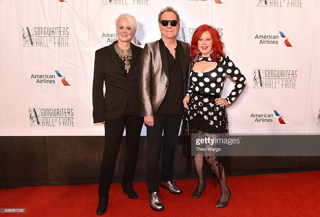 Cindy Wilson Fred Schneider and Kate Pierson attend Songwriters Hall Of Fame 47th Annual Induction And Awards at Marriott Marquis Hotel on June 9...