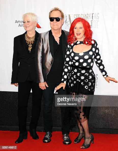 Cindy Wilson Fred Schneider and Kate Pierson of the B52s attend the 47th Annual Songwriters Hall Of Fame Induction And Awards Gala at The New York...