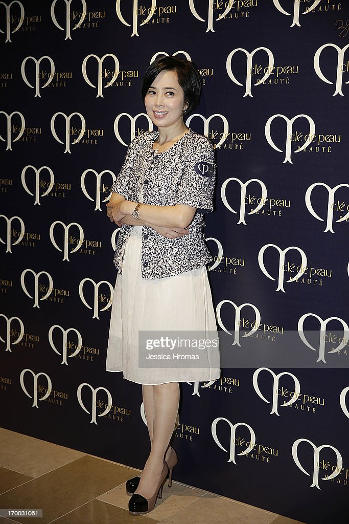Cindy Yeung attends the Shiseido 'Cle De Peau Beaute' gala dinner at ArtisTree on June 6, 2013 in Hong Kong, Hong Kong.