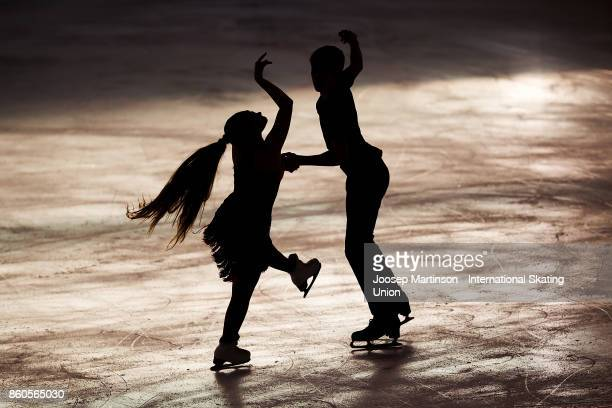 CindyLilli Zimmerli and Volodymyr Nakisko of Switzerland compete in the Junior Ice Dance Short Dance during day one of the ISU Junior Grand Prix of...