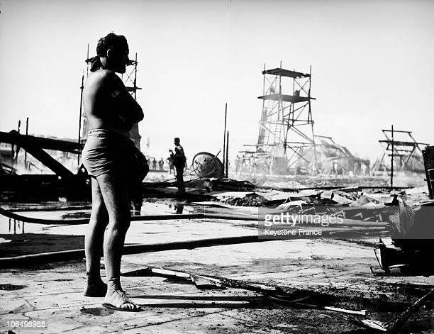 Cinecitta Fire In 1954