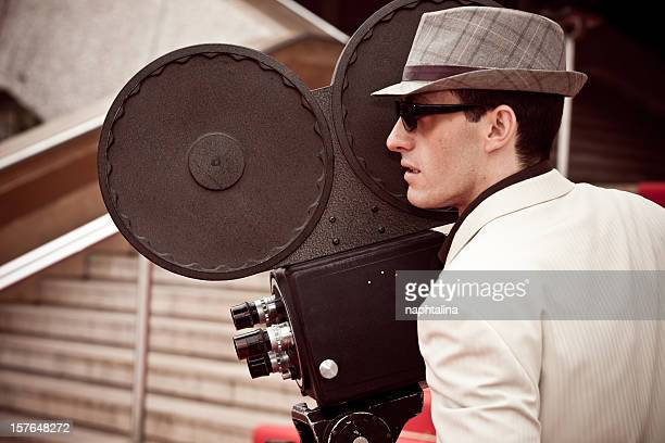 Cinema cameraman working