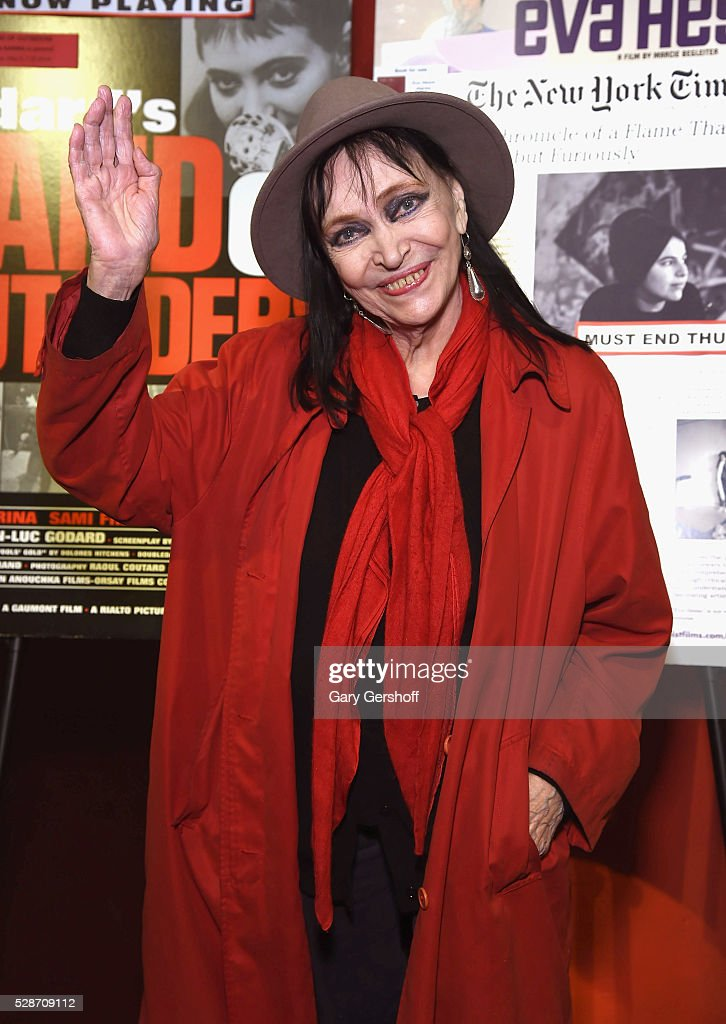 Cinema icon <a gi-track='captionPersonalityLinkClicked' href=/galleries/search?phrase=Anna+Karina&family=editorial&specificpeople=746277 ng-click='$event.stopPropagation()'>Anna Karina</a> attends the 'Band Of Outsiders' special screening at Film Forum on May 6, 2016 in New York City.