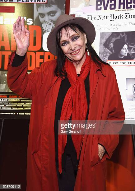 Cinema icon Anna Karina attends the 'Band Of Outsiders' special screening at Film Forum on May 6 2016 in New York City