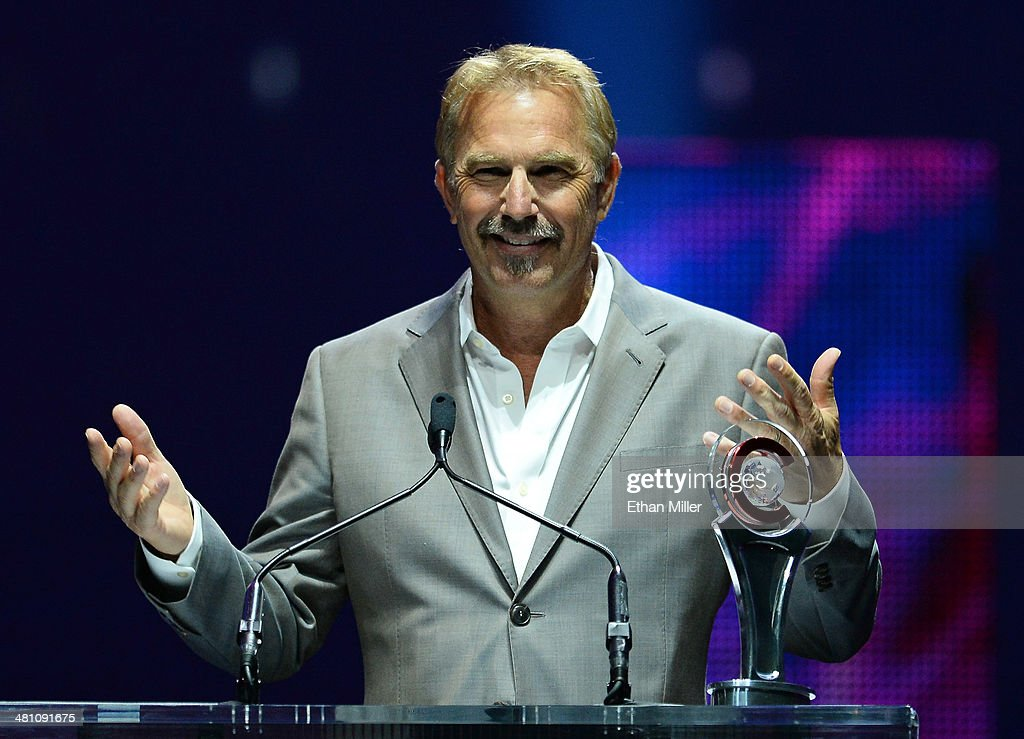 Cinema Icon Award winner <a gi-track='captionPersonalityLinkClicked' href=/galleries/search?phrase=Kevin+Costner&family=editorial&specificpeople=201719 ng-click='$event.stopPropagation()'>Kevin Costner</a> speaks onstage at The CinemaCon Big Screen Achievement Awards brought to you by The Coca-Cola Company during CinemaCon, the official convention of the National Association of Theatre Owners, at The Colosseum at Caesars Palace on March 27, 2014 in Las Vegas, Nevada.