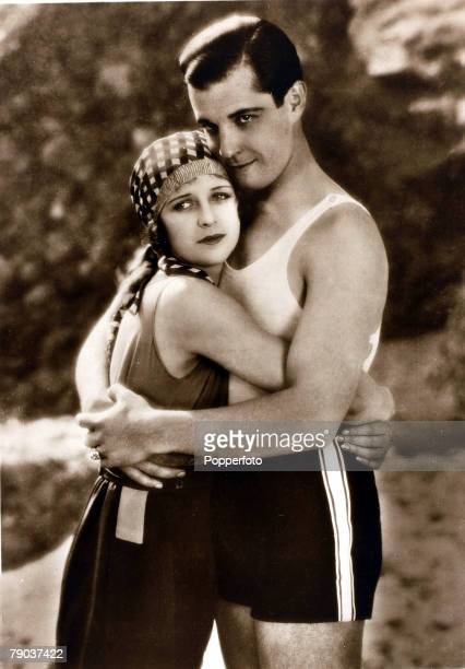 Cinema Personalities circa 1920s Mexican born film actor Ramon Navarro is pictured with actress Marceline Day