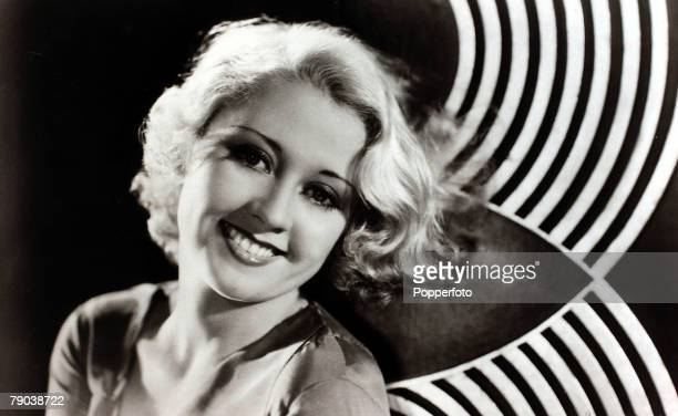 Cinema Personalities circa 1930's American actress Joan Blondell born in New York in 1906 portrait She was the daughter of a vaudeville comic and...