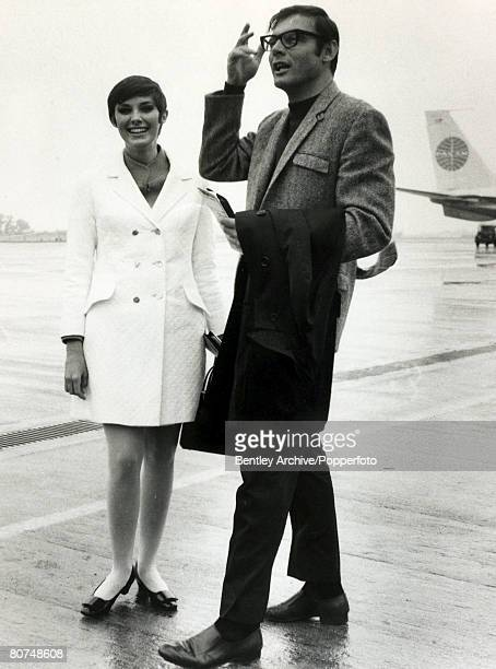 Cinema Personalities England Beverly Adams Canadian born actress is pictured in London on the same flight as 'Batman' actor Adam West