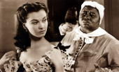 Cinema Personalities English actress Vivien Leigh playing Scarlett O'Hara in the 1939 classic film 'Gone With The Wind' alongside actress Hattie...