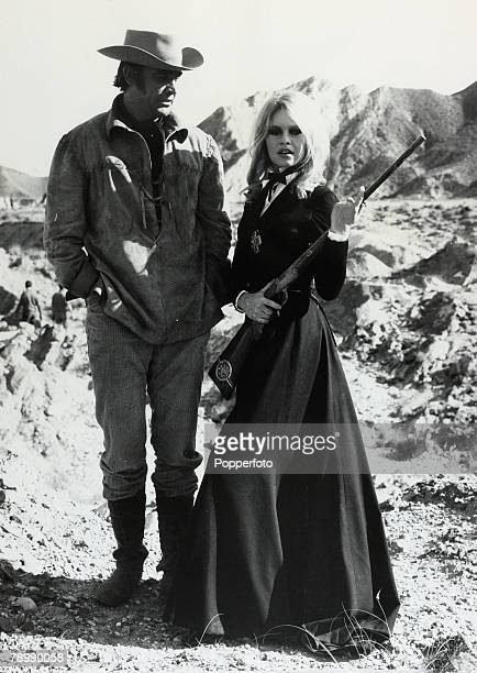 10th January 1967 French actress Brigitte Bardot with costar Sean Connery during the making of the film 'Shalako' Brigitte Bardot first appeared on...
