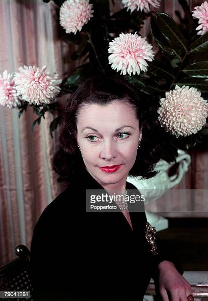 1949 British film actress Vivien Leigh portrait She was best known for her starring roles in the classic 1939 film 'Gone With The Wind' and 'A...