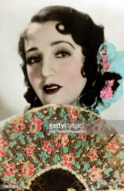 circa 1930's American actress and radio personality Bebe Daniels who had a short film career in the 1930's She married Ben Lyon and they went to...