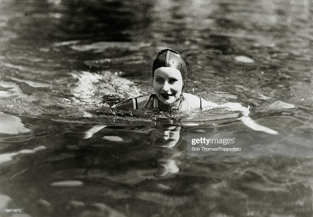 circa 1930's American actress Greta Garbo born in Sweden who went to America in the 1920's and became a Hollywood star She was especially popular in...