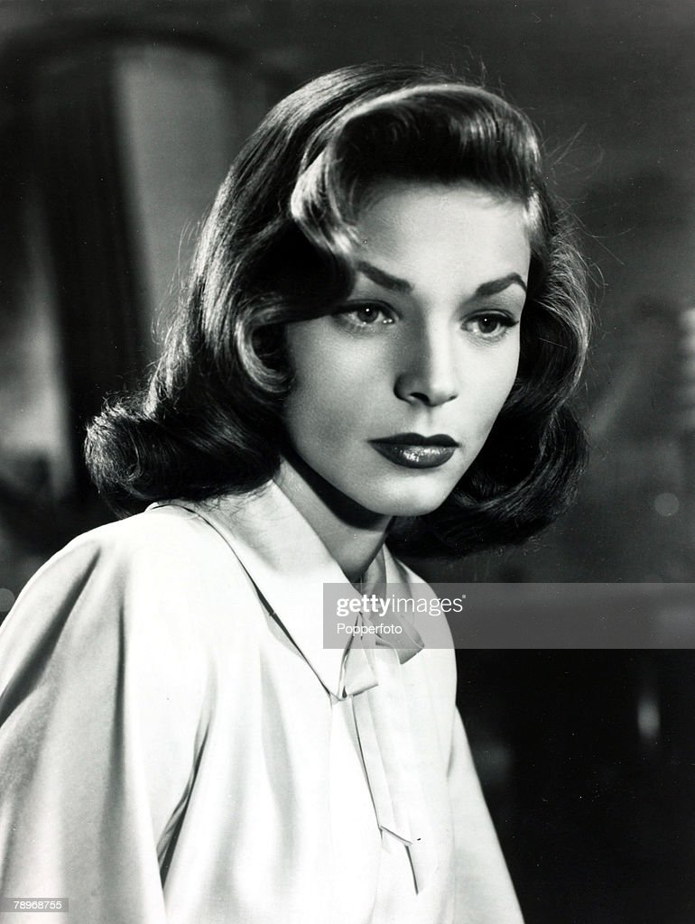 circa 1940's A portrait of American actress Lauren Bacall