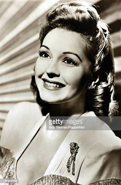 circa 1940's American actress Nancy Kelly who was a child star and won a Tony Award for 'The Bad Seed' on Broadway