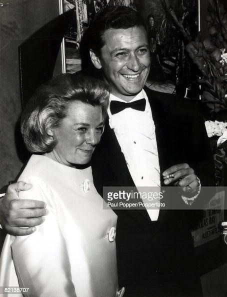circa 1960's Hollywood American actress June Allyson born 1917 with Italian actor Cesare Danova at a film premiere June Allyson especially popular in...