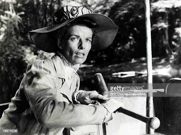 1951 American actress Katharine Hepburn playing the role of 'Rose Sayer' in the classic film 'The African Queen' Katharine Hepburn was one of the...