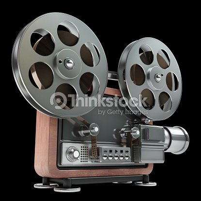 Cinema Projector Old Fashioned High Resolution 3D Image