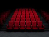 Movie theater in the dark.
